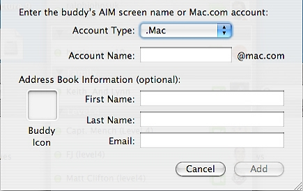 Adding Mac Buddy pic